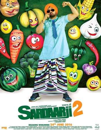 Poster Of Sardaarji 2 2016 Punjabi  300MB pDVD  Watch Online Free Download Worldfree4u