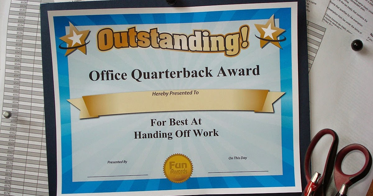 funny office award categories