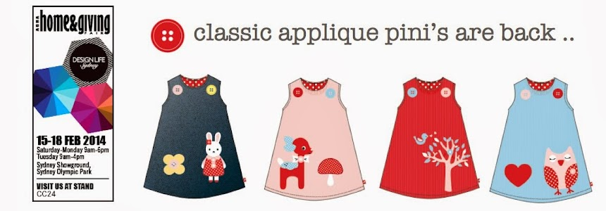 .. classic appliqué pini's are back !