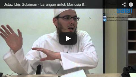 Ustaz Idris Sulaiman – Larangan untuk Manusia & Haiwan Melintas di Hadapan Orang Solat