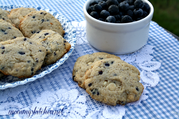 how to make blueberry cheesecake cookies