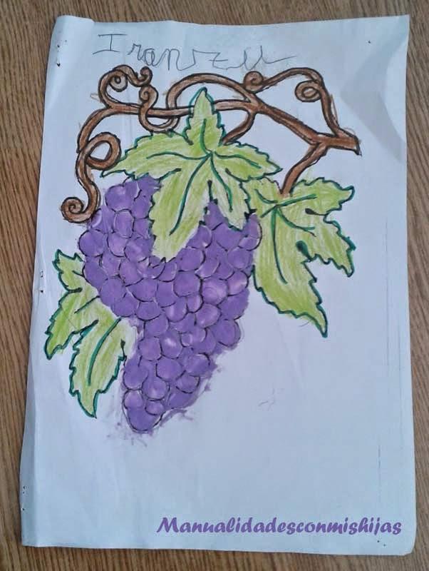 Manualidades con mis hijas: Los racimos de uvas, en plastilina, con ...