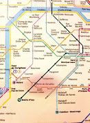 A part of Paris metro map and where the Porte de Versailles station is (paris metro map)