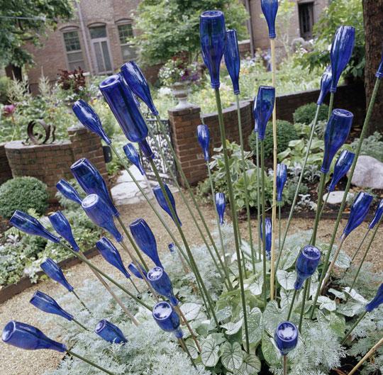 Идеи для сада из подручных материалов своими руками фото