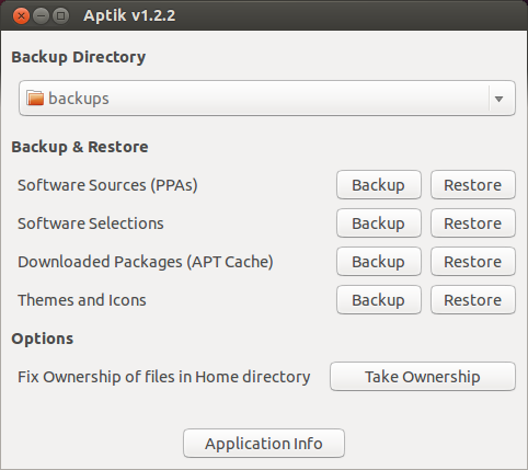 Aptik, a great tool to restore your Favourite Apps, PPAs, Themes ... to your Ubuntu fresh install