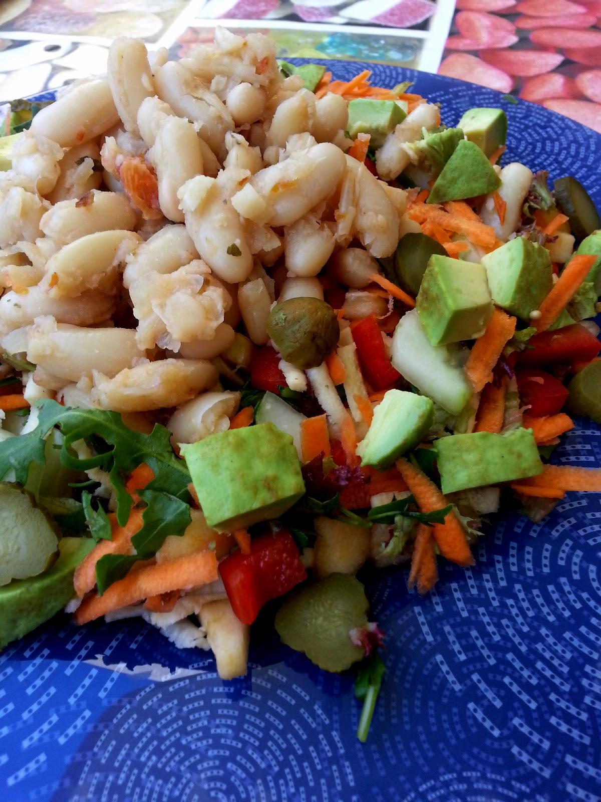 Vegspiration blog de inspiraci n vegana ensalada fria de alubias judias blancas - Ensalada fria de judias blancas ...