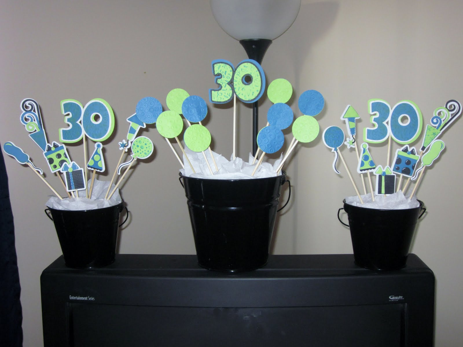 Jamiek711 designs 30th birthday decorations for 30th party decoration ideas