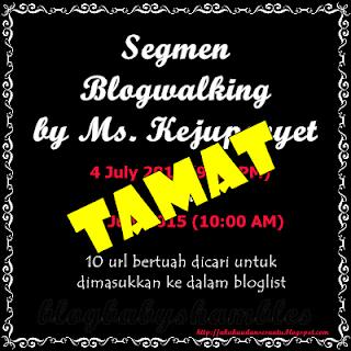Segmen Blogwalking by Ms. Kejupenyet