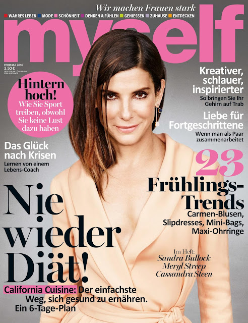 Actress, @ Sandra Bullock - Myself Magazine Germany, February 2016