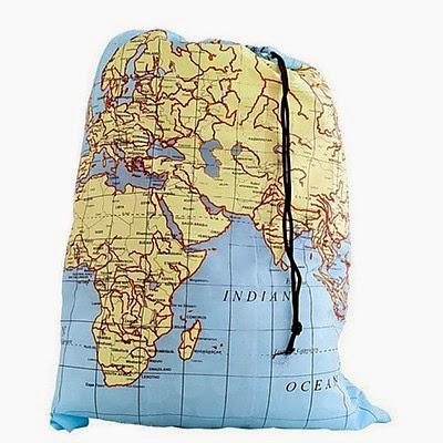Bolsa para ropa sucia mapamundi