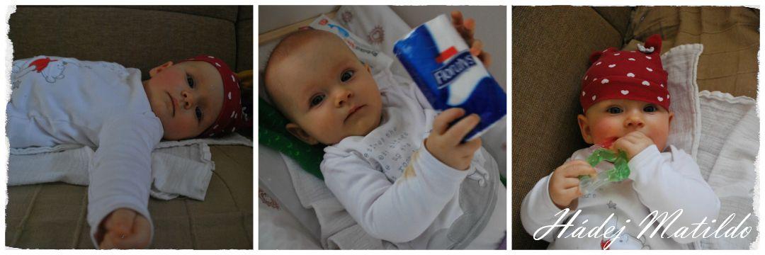 Matilda, nemocné miminko, rýmička, domácí léčení