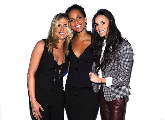 "Demi Moore, Jennifer Aniston And Alicia Keys Premiere ""Five"" In NYC!"