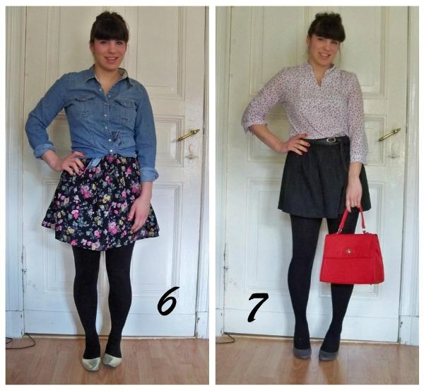 30 Kleidungsstücke für 30 Tage ergeben 30 verschiedene Outfits Tag 6 und 7