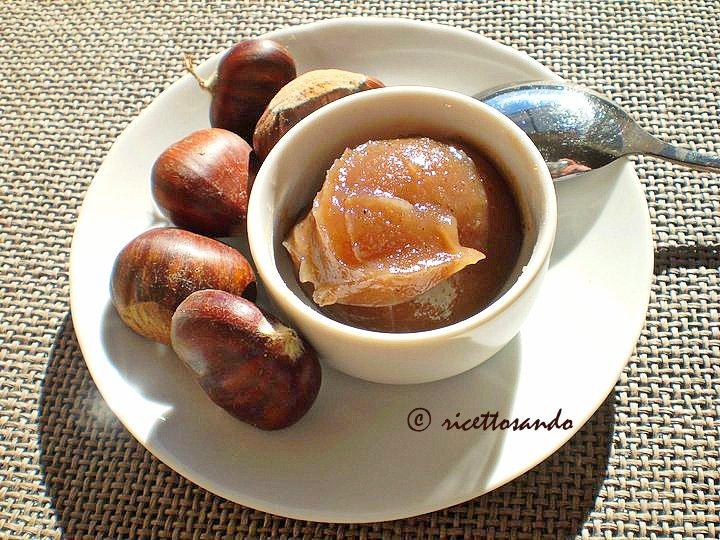 Confettura di marroni  marmellata ricetta dolce