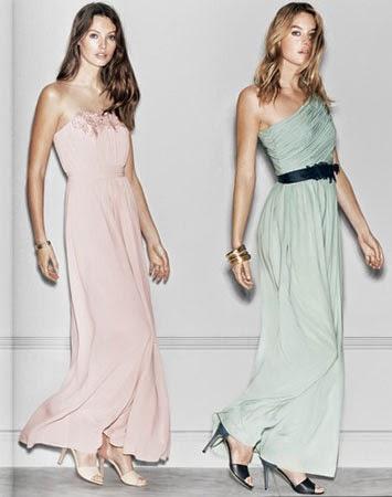 vestidos de fiesta largos primavera verano 2014 de H&M