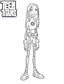 Teen Titans Go Coloring Pages Terra