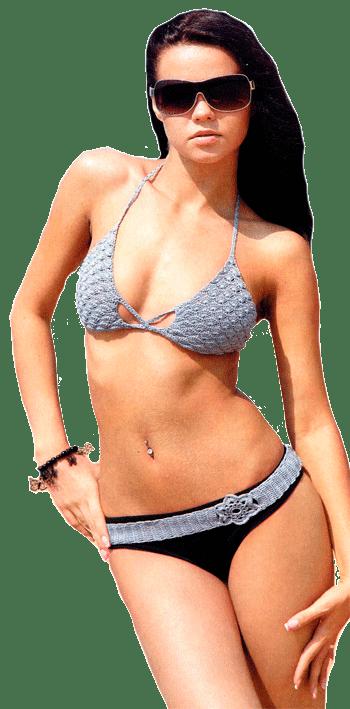 купальник с ажурным лифом