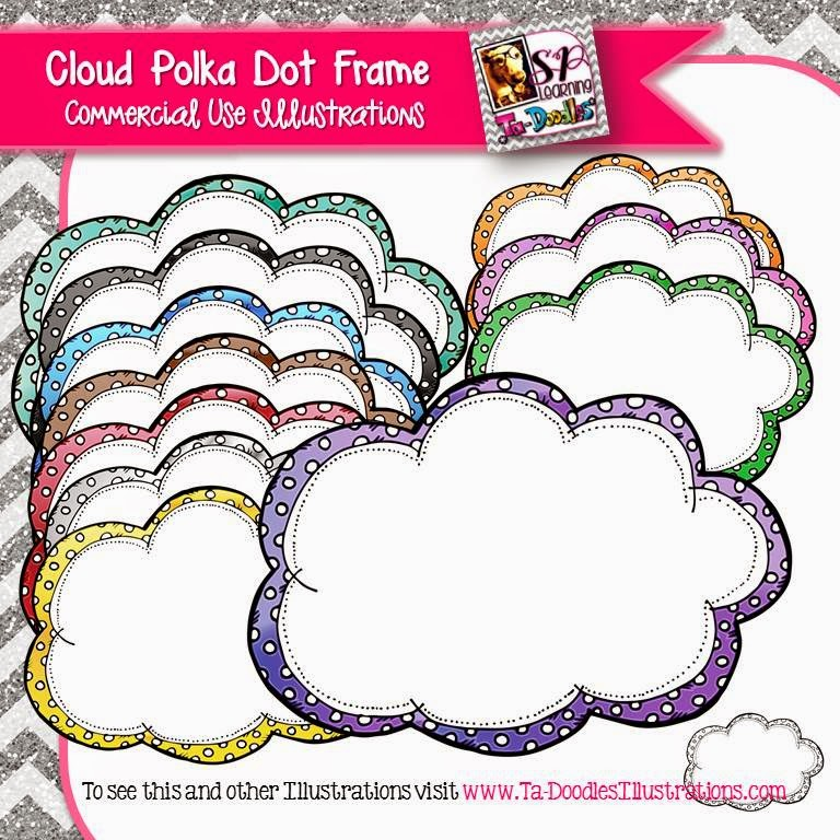 https://www.teacherspayteachers.com/Product/Cloud-Polka-Dot-Frames-Clip-Art-1727987