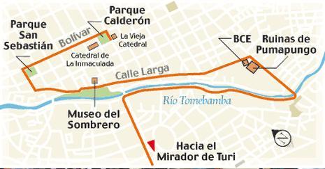 mapa turistico de cuenca