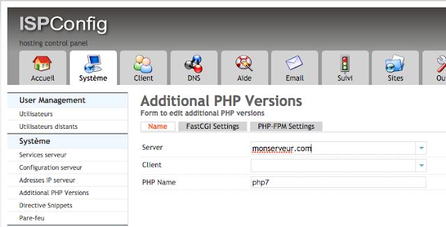 Ispconfig 3 php7 php-fpm debian 8 jessie