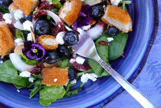 Chicken Goat Cheese and Cherry Salad with Toasted Pecans Recipe