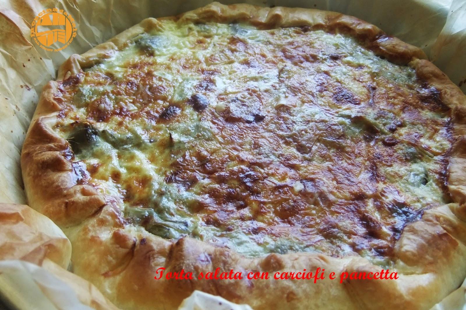 Ricette pasta sfoglia salata con carciofi