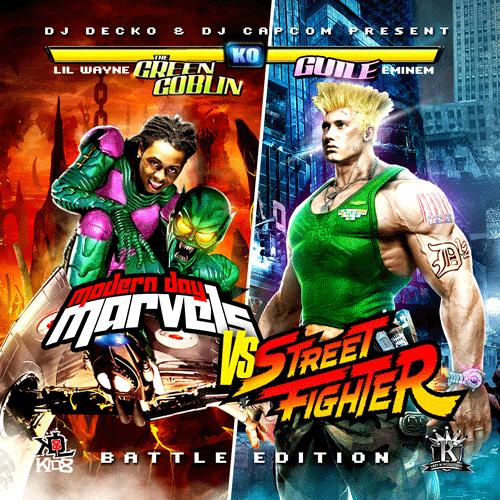 Lil Wayne  Eminem - Modern Day Marvels Vs Street Fighter Hosted by Dj    Eminem Lil Wayne God