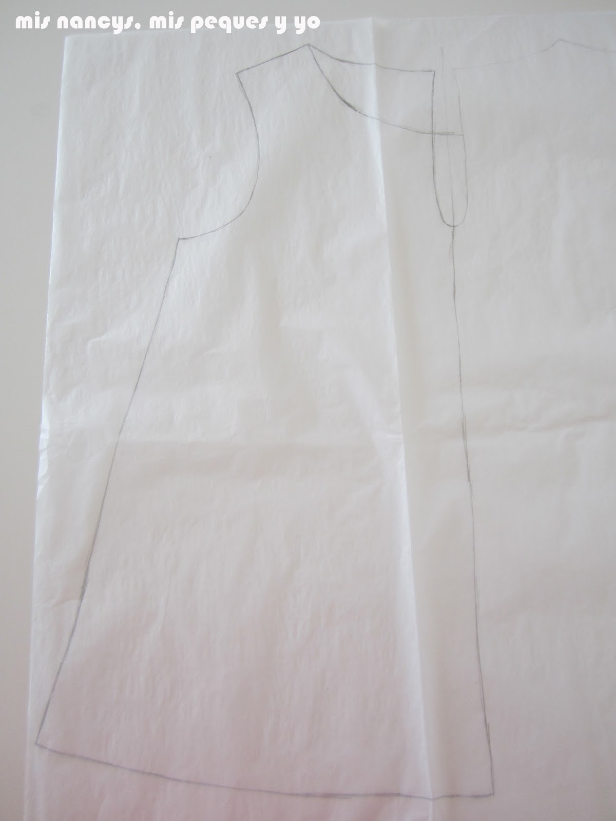 mis nancys, mis peques y yo, tutorial blusa sin mangas niña (patrón gratis), dibujar abertura blusa
