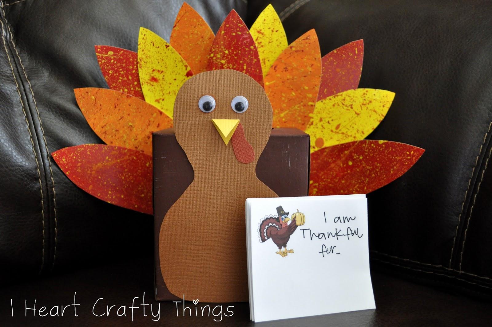 Thankful turkey box tutorial i heart crafty things