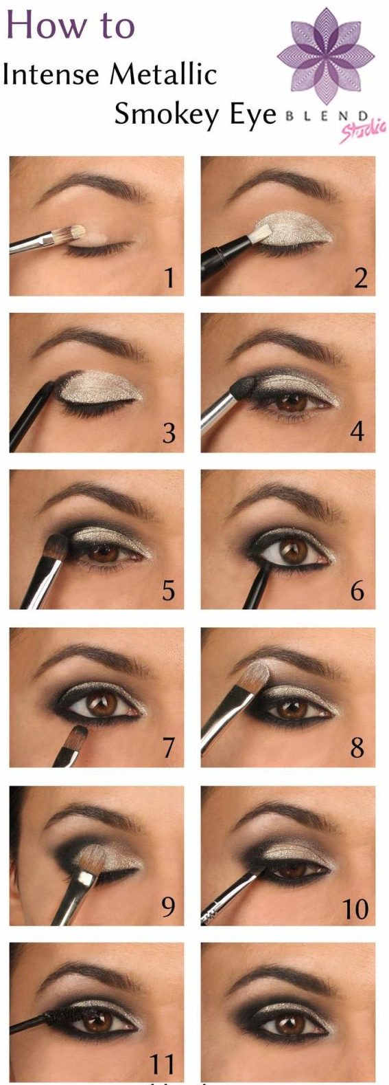 One Has To Absorb Order To Induce An Intense Gold Smoky Eye Makeup You  Recognize You Would Like Black And Gray Shades, Slightly Little Bit Of  Glitter