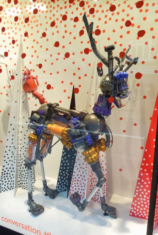 Dyson reindeer Christmas window Peter Jones