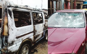 cars Robbers Invade Mushin In Lagos; Rapes, Burns & Destroys 30 Vehicles