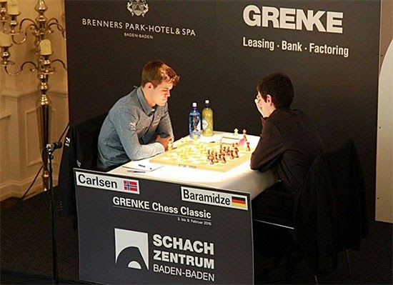 Echecs : Magnus Carlsen (2865) 1-0 David Baramidze (2594) © Chess & Strategy