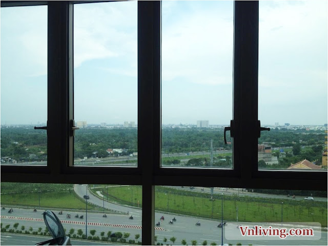 Spacious The Vista apartment 3 bedrooms 139 sqm for rent Hanoi Highway view