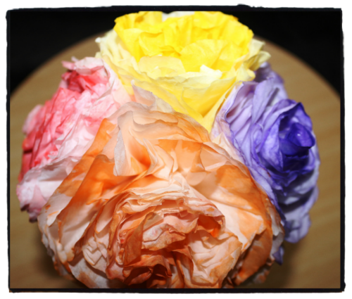 Meghas creations handmade decorative paper flowers this floral arrangement is made from inexpensive coffee filter papers you can even make this with simple paper or any colorful craft papers and is perfect mightylinksfo