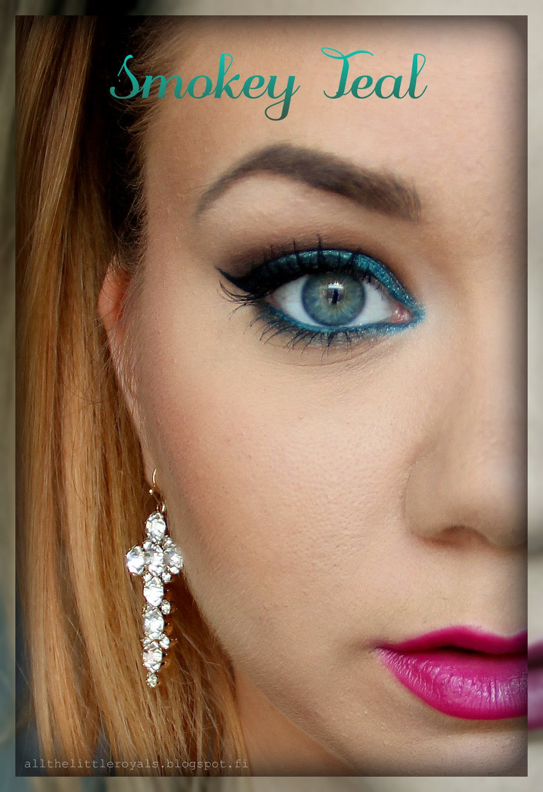 All The Little Royals Tutorial Smokey Teal Eye Makeup