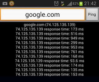 Cara cek ping dari Android
