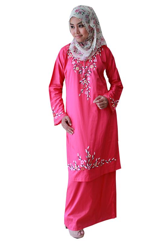 Model Dan Contoh Baju Gamis Wanita Khas Melayu Gaya Masa