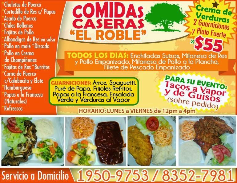 Comidas casera el roble for Buscar comidas caseras