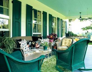 A Monochromatic Color Scheme For The Porch Via Paramus Post