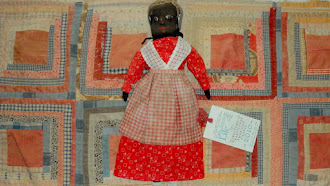 Early Hand Made Doll  - by Angela Hillstrom - One of a kind - Much detail hours of hand stitching