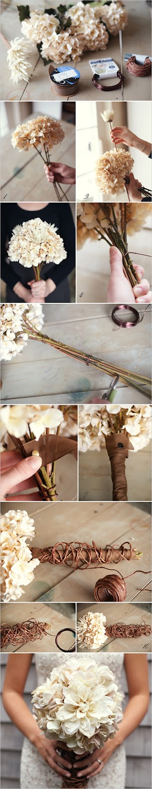 diy mum bouquet DIY Inspiration: Hydrangea and Mum Bouquet