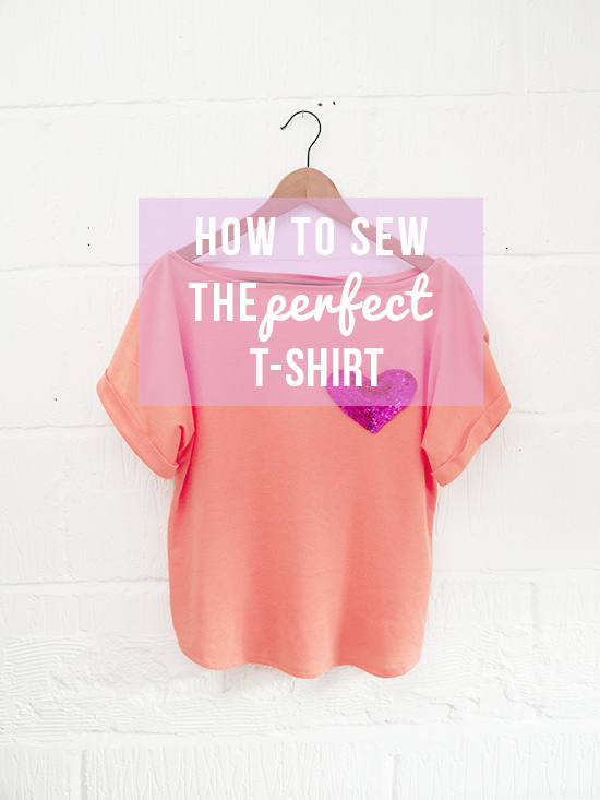 how to sew the perfect t-shirt\