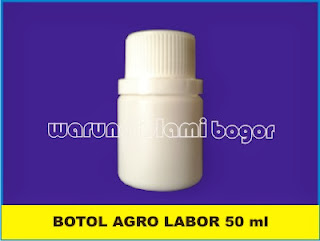 Botol HDPE Agro Labor 50 ml Untuk kemasan Cair dan 20 Kapsul