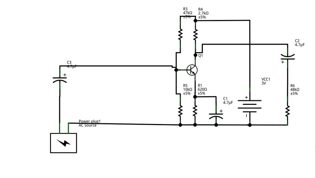 CE Amplifier Breadboard Circuit aout