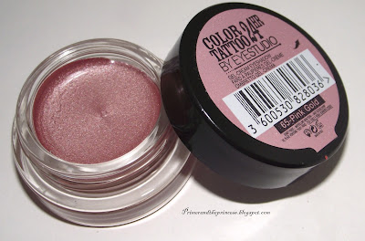 Maybelline Colour Tattoo 24 HR Gel -Cream Eyeshadow Review - 65 Pink Gold