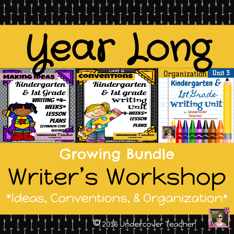 Year Long Writer's Workshop Bundle