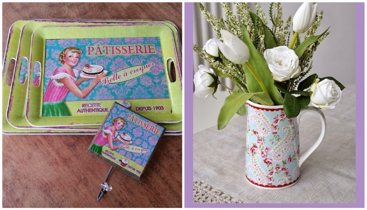 bandeja e cabideiro retrôs @miusa_artdecor e vaso de flores @coisasdadoris
