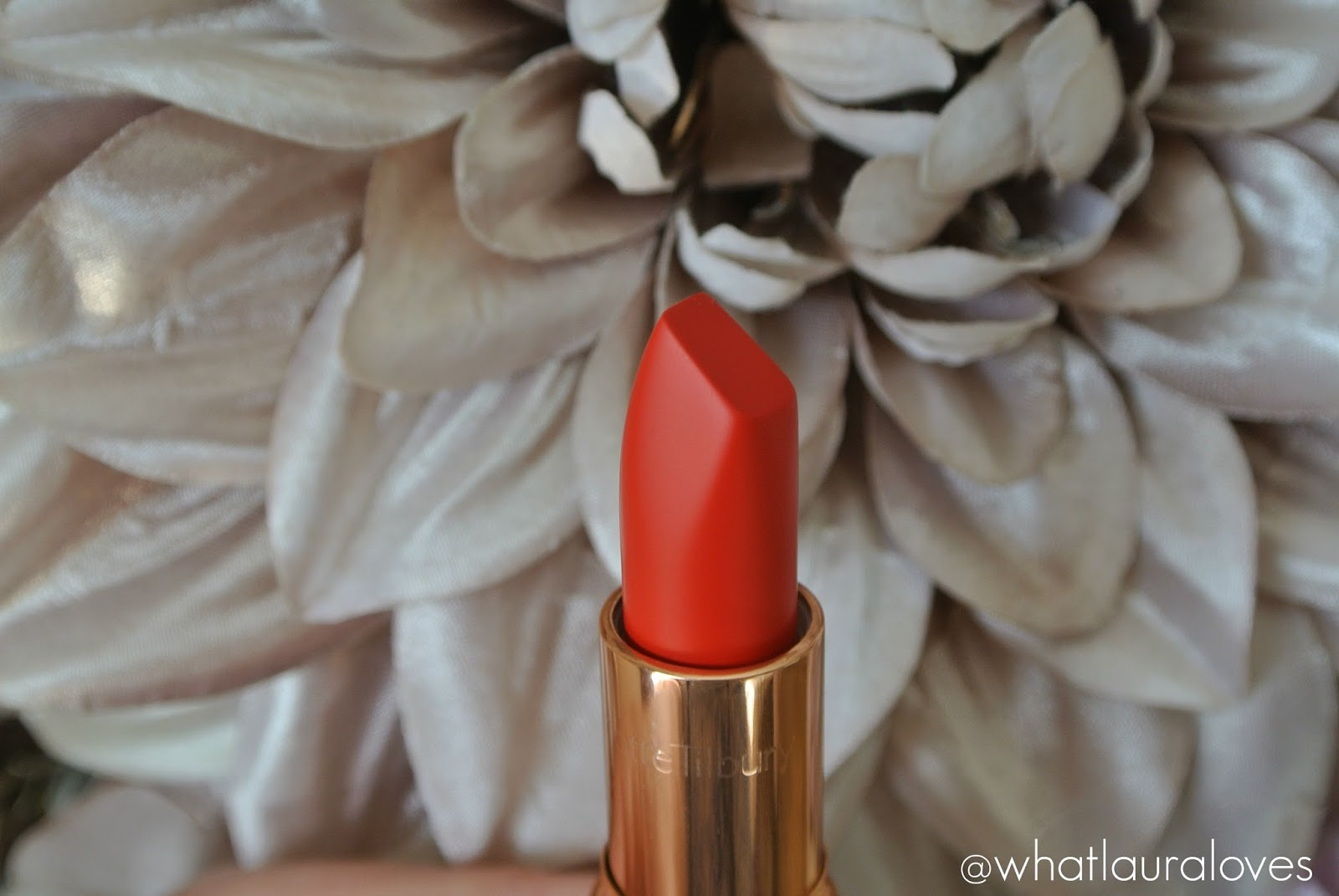 Charlotte Tilbury x Norman Parkinson Matte Revolution Lipstick in 1975 Red Review