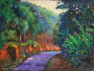 original soft pastel painting for art exhibition at Gallerie Leela by Manju Panchal